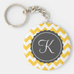 Gold and Grey Zig Zag Custom Initial