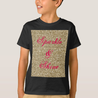 Gold and Hot Pink Glitter Sparkle and Shine T-Shirt