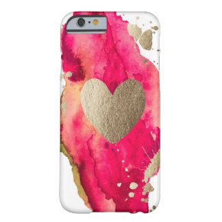 Gold and Magenta Love Iphone case Barely There iPhone 6 Case