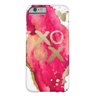 Gold and Magenta XOXO Iphone case Barely There iPhone 6 Case
