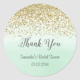 Gold and Mint Bridal Shower Sticker