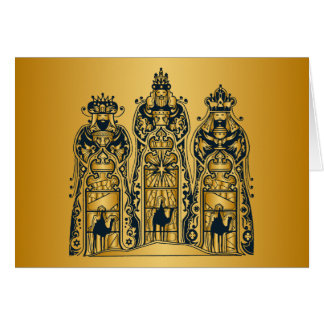 Gold and Navy Three Wise Men Card