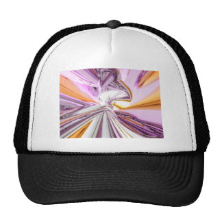 Gold And Pink Abstract Hat