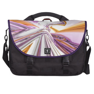 Gold And Pink Abstract Laptop Commuter Bag