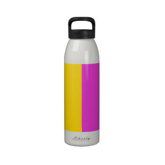 Gold and Pink Color Block Drinking Bottles