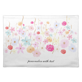 Gold and Pink Garden Floral Place Mat