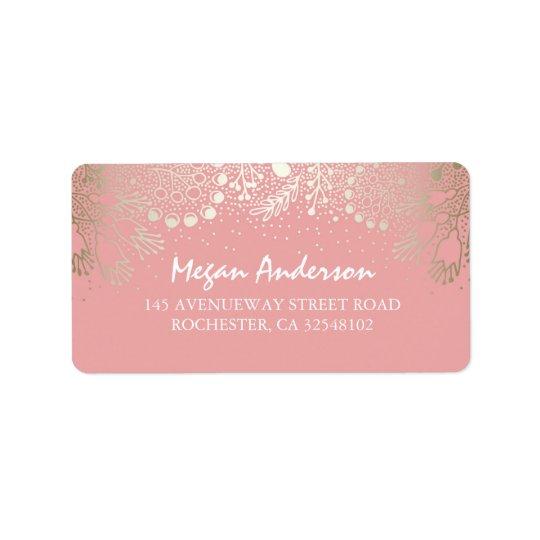 Gold and Pink Garden Wonderland Wedding