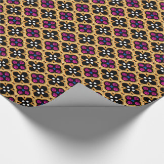 Gold and Pink Holiday Bling Wrapping Paper