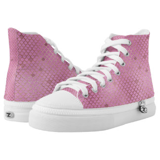 Gold and Pink Mermaid Scales High Tops
