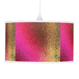 Gold and Pink Shimmer Pendant Lamp
