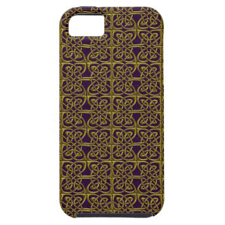 Gold And Purple Connected Ovals Celtic Pattern iPhone 5 Cover