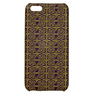 Gold And Purple Connected Ovals Celtic Pattern iPhone 5C Cover