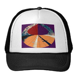 Gold and Purple Diamond Pyramid Patterns 12 Trucker Hat