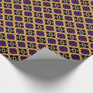 Gold and Purple Holiday Bling Wrapping Paper