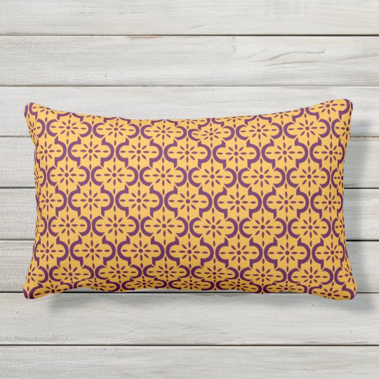 Gold and Purple Lumbar Pillow