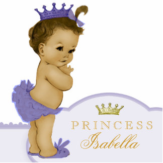 Gold and Purple Princess Baby Shower Cut Outs