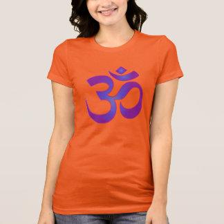 Gold and Purple Yoga Meditation Zen OM Symbol T-Shirt