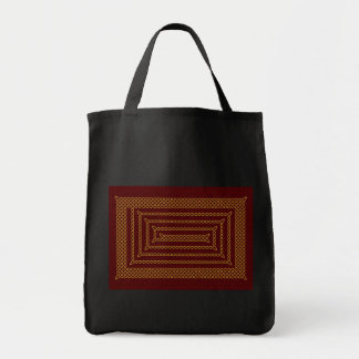 Gold And Red Celtic Rectangular Spiral Bags