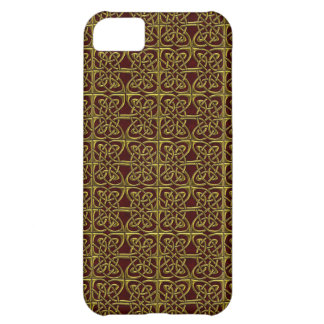 Gold And Red Connected Ovals Celtic Pattern iPhone 5C Cover