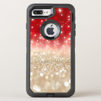 Gold and Red Glitter OtterBox Defender iPhone 8 Plus/7 Plus Case