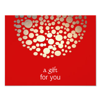 Gold and Red Holiday Gift Certificate Card