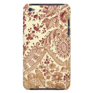 Gold And Red Lace Barely There iPod Case