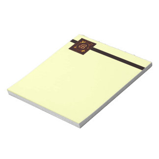 Gold and Red Notepad
