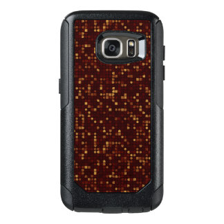 Gold and Red Squares Pattern on Red OtterBox Samsung Galaxy S7 Case