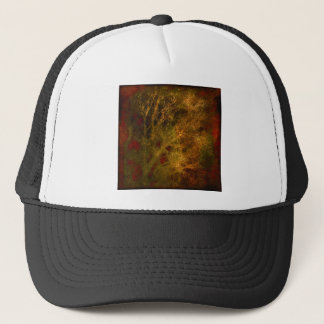 Gold and Red Tree Branches Abstract Trucker Hat