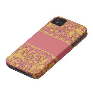 Gold and Rose Damask Pattern Blackberry Case
