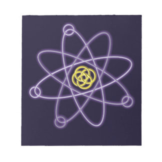 Gold and Silver Atomic Structure Notepad