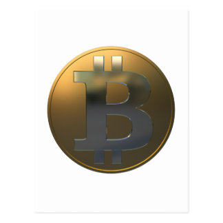 Gold and Silver Bitcoin Postcard