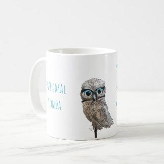 Gold and Silver Burrowing Owl Decor Coffee Mug