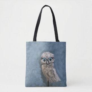 Gold and Silver Burrowing Owl Decor Tote Bag