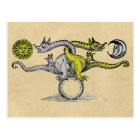 Gold and Silver Dragons of Alchemy Postcard