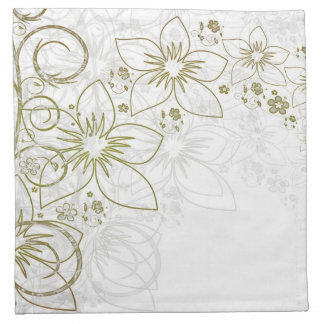 Gold and silver floral napkins
