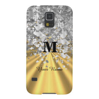 Gold and silver glitter monogrammed cases for galaxy s5