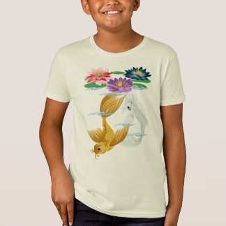 Gold and Silver Koi with Lilies Shirts
