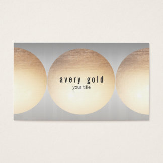 Gold and Silver Metal Look Business Card