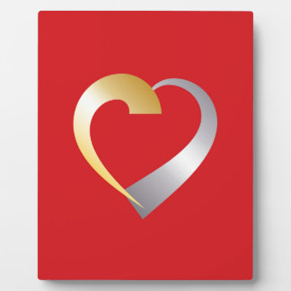 Gold and silver Valentine Heart Plaque