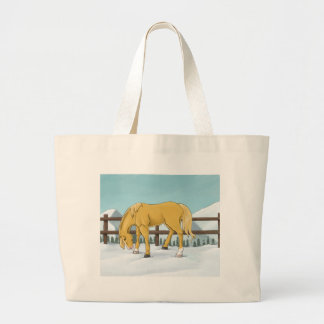 Gold and Snow Large Tote Bag