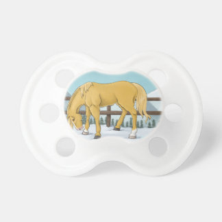 Gold and Snow Pacifier