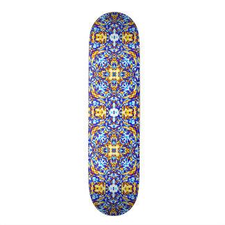 Gold and Water Mandala Skateboard Deck