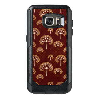Gold and White Apple Trees on Red OtterBox Samsung Galaxy S7 Case
