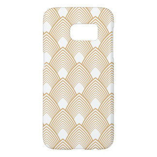 Gold and White Art Deco Pattern Samsung Galaxy S7 Case