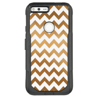 Gold and White Chevron, Mobile OtterBox Commuter Google Pixel XL Case