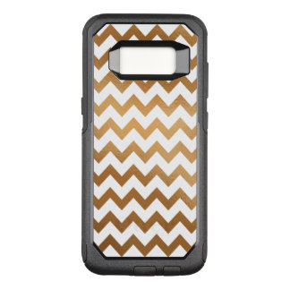 Gold and White Chevron OtterBox Commuter Samsung Galaxy S8 Case