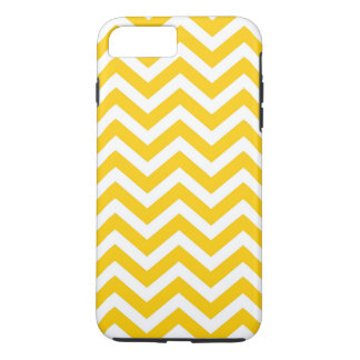 Gold and White Chevron Pattern iPhone 7 Plus Case