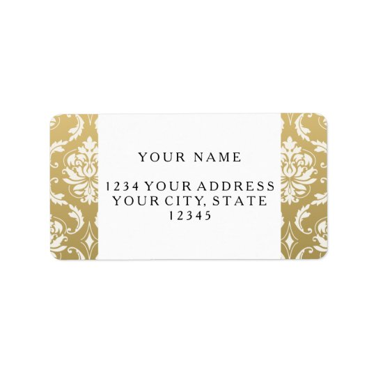 Gold and White Classic Damask