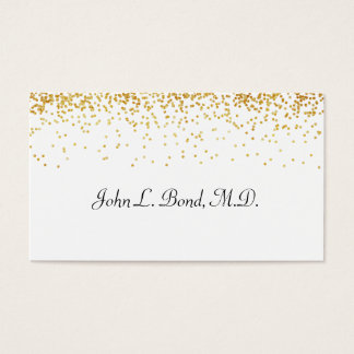 Gold and White Confetti Business Card
